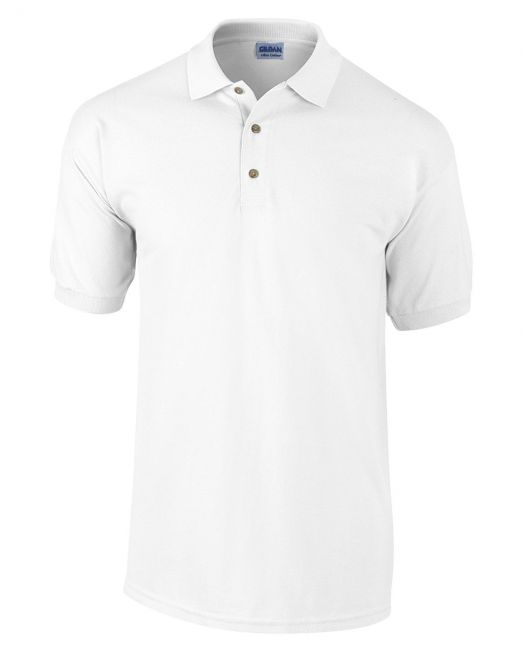 blank white polo shirt