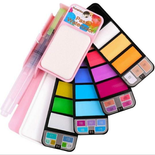 Pastel Watercolor Paint Set