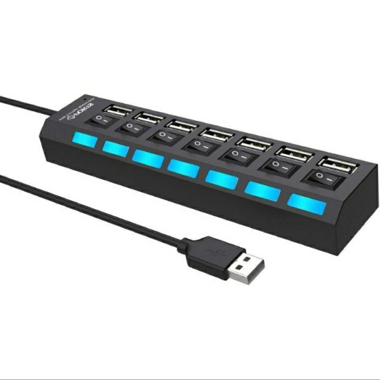 USB Data Hub Splitter w/ Hub Adapter