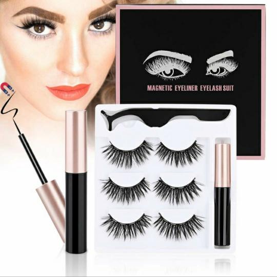 ToyRis Magnetic Eyelashes with Eyeliner Kit (Style 10)