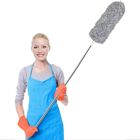 Feather Microfiber Duster w/ Extra-Long 100″ Extension Pole
