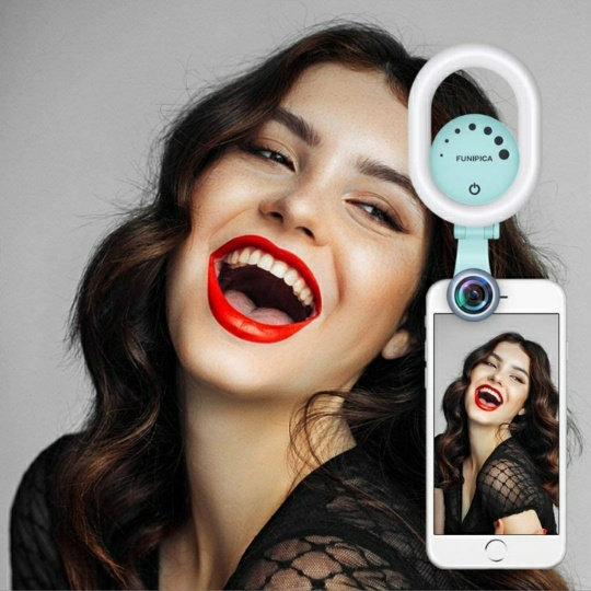 Selfie Ring Light with 120° Wide Angle Lens