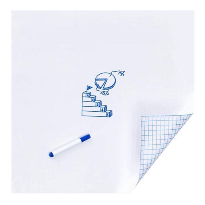 Viseeko Dry Erase Whiteboard Self-Adhesive Wall Decal for Online Learning