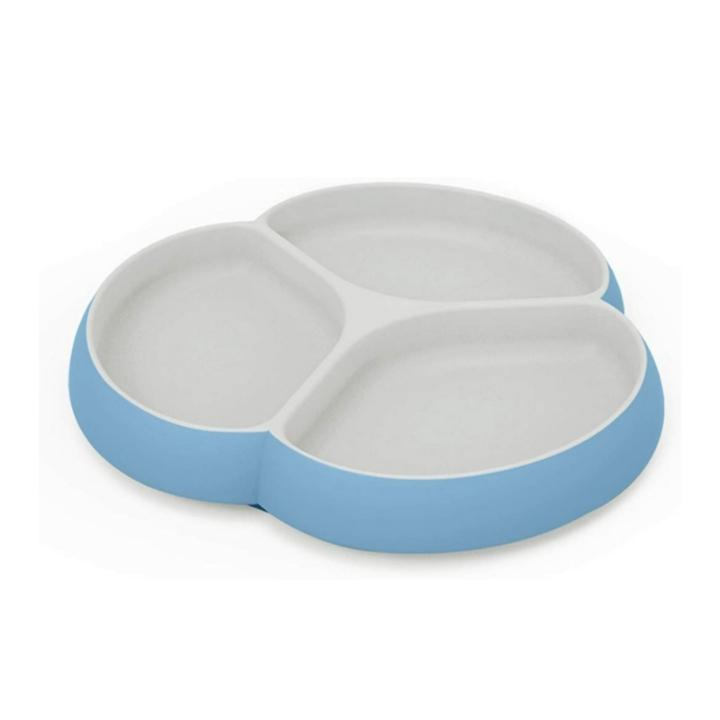 SILIVO Silicone, Non Slip Baby Plates w/ Suction