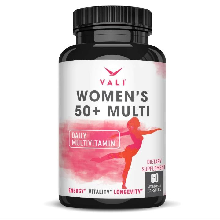 Women's Over 50 Daily Multivitamin & Mineral Supplement (60 Veggie Capsules)