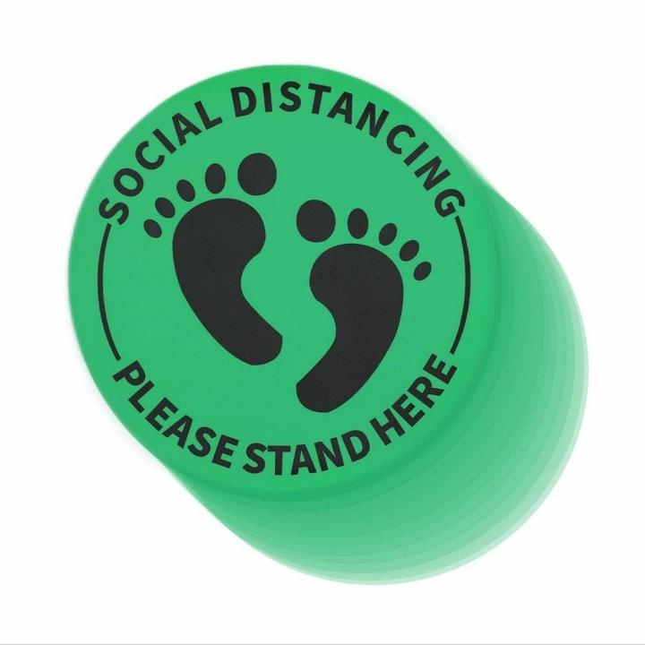 Social Distance Floor Stickers Decals (12 Pack)