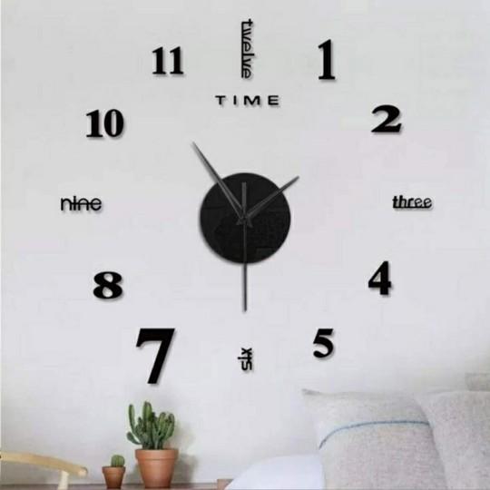 Frameless Large Modern Wall Clock