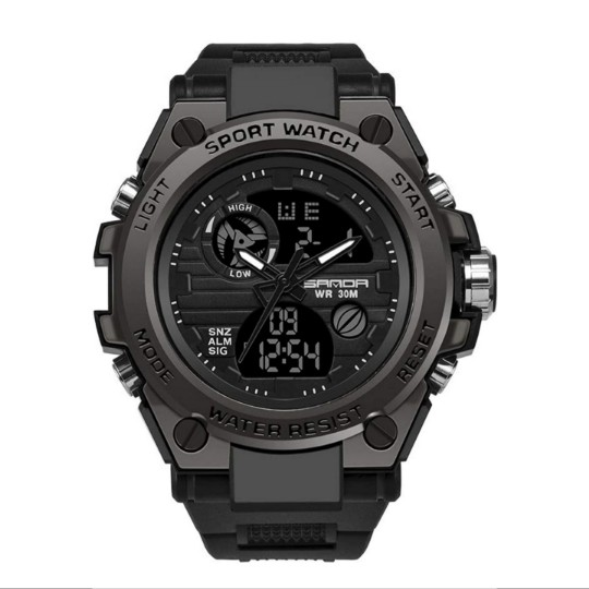 Men's Digital Sports Watch, Multi-Functions Dual-Display w/ Backlight