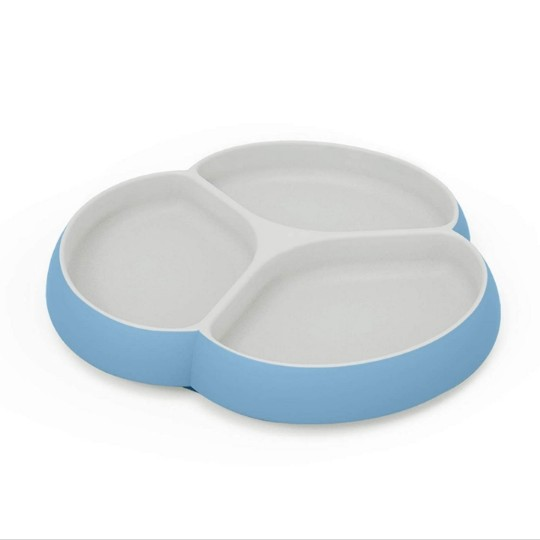 SILIVO Non Slip Silicone Divided Baby Plates w/ Suction