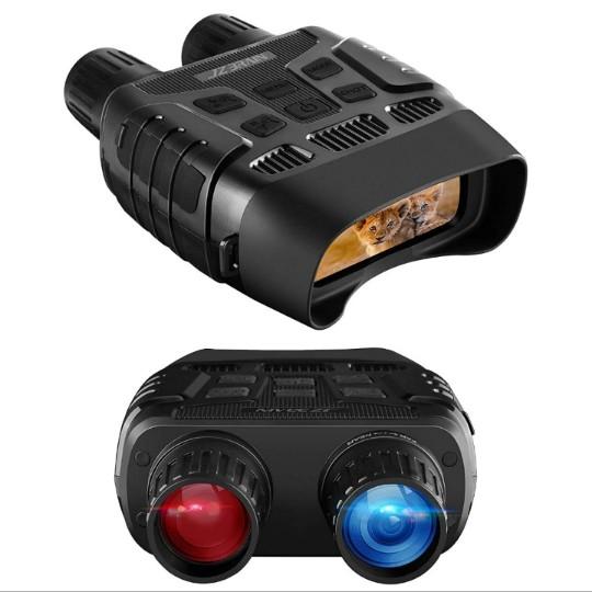 JZBRAIN Night Vision Infrared Binoculars for Total Darkness, 4X Digital Zoom, IR LED 3W 850nm & 32 GB Memory Card