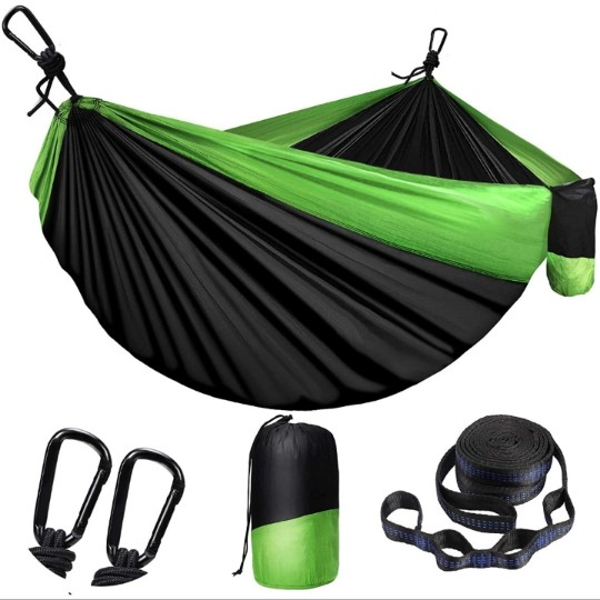 Nylon Camping Hammock for Outdoors w/ 660lb Limit