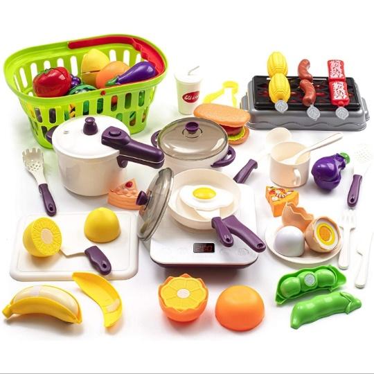 43PCS Toy Kitchen Playset for Kids