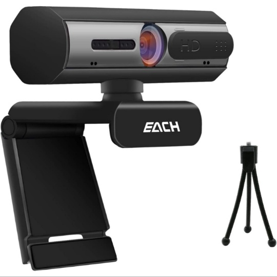 Webcam with Microphone for Desktop, 1080P HD